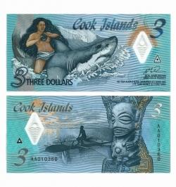 3 доллара 2021 год Острова Кука фото