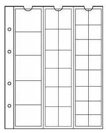 Лист NUMIS на 33 монеты разных диаметров фото