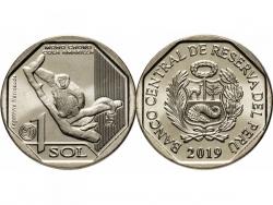 Монета 1 соль 2019 год Желтохвостая обезьяна, UNC фото