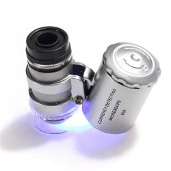 Микроскоп для монет, с подсветкой 45х/60х, стереоскопический фото