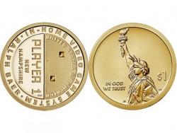 Монета 1 доллар 2021 год Игровая консоль, UNC фото