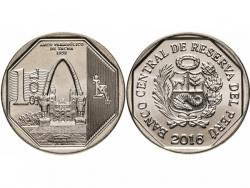 Монета 1 соль 2016 год Аллегорическая арка в Такне, UNC фото