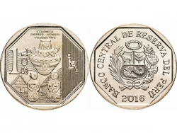 Монета 1 соль 2016 год Керамика Шипибо-Конибо, UNC фото