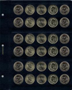 Универсальный лист для памятных монет США 1 доллар фото