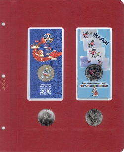 Универсальный лист для памятных монет России в блистерах фото