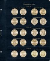 Альбом для юбилейных монет США 1 доллар (по монетным дворам) / страница 1 фото