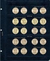 Альбом для юбилейных монет США 1 доллар (по монетным дворам) / страница 2 фото