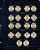 Альбом для юбилейных монет США 1 доллар (по монетным дворам) / страница 4 фото