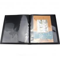 Альбом-кляссер для хранения почтовых марок (10 двусторонних листов с 1 ячейкой) / страница 1 фото