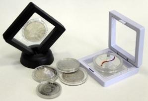 Футляр для монет с подставкой (70х70 мм) / страница 1 фото