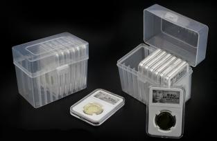 Бокс для хранения 10 монет в слабах, прозрачный (PCCB) / страница 5 фото