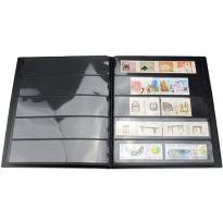 Альбом-кляссер для хранения почтовых марок (10 двусторонних листов с 5 ячейками) / страница 1 фото