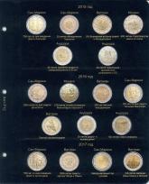 Комплект листов для юбилейных монет 2 евро стран Сан-Марино, Ватикан, Монако и Андорры / страница 3 фото