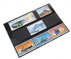 Карточки-кулисы для марок, чёрные / страница 1 фото