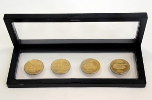 Дисплей для монет с подставкой (230х90 мм) / страница 1 фото