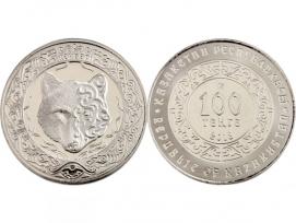 Монета 100 тенге 2018 год Небесный волк (в буклете), UNC / страница 3 фото