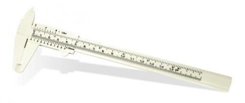 Штангенциркуль для измерения монет, пластиковый  / страница 1 фото