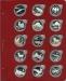 Лист для монет в капсулах диаметром 39 мм (красный)